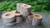 Dřevené solničky,