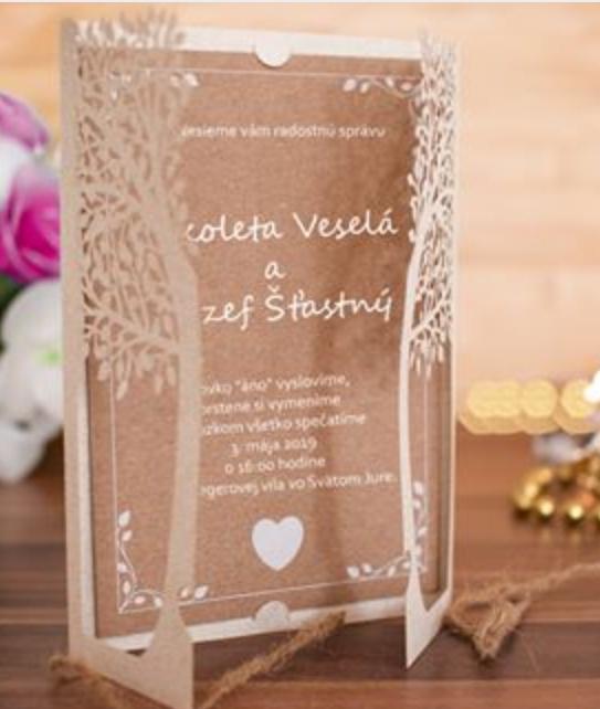 Svadobné oznámenia, pozvánky, menu, etikety - Obrázok č. 2