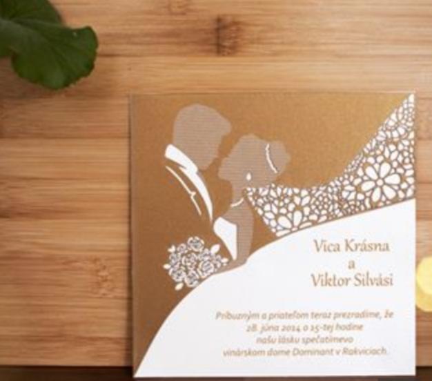 Svadobné oznámenia, pozvánky, menu, etikety - Obrázok č. 3