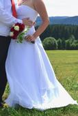 Sněhobílé svatební šaty 38-42 Sleva, 38