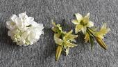 umělé květiny - žluté lilie,