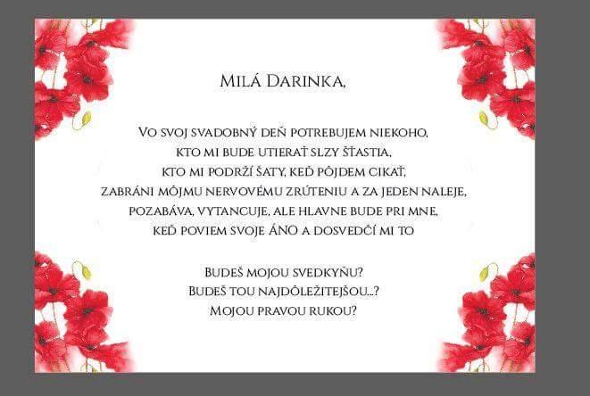 Pozvánka pre svedkyňu :-)
