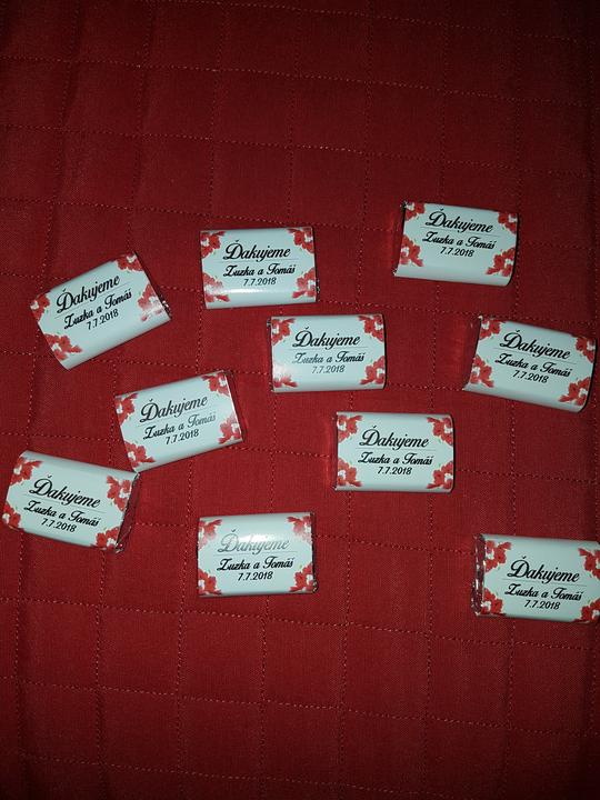 Čokoládky pre hostí :-)