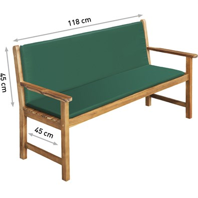 Poduška na kreslo, zelená - Obrázok č. 1