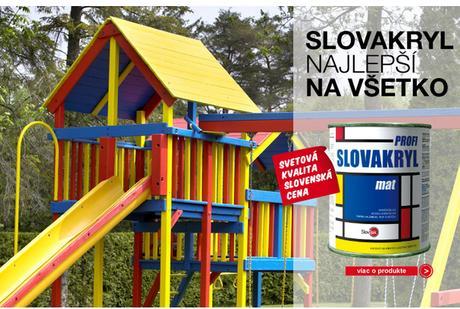 Slovakryl - univerzálna vodouriediteľná farba - Obrázok č. 1