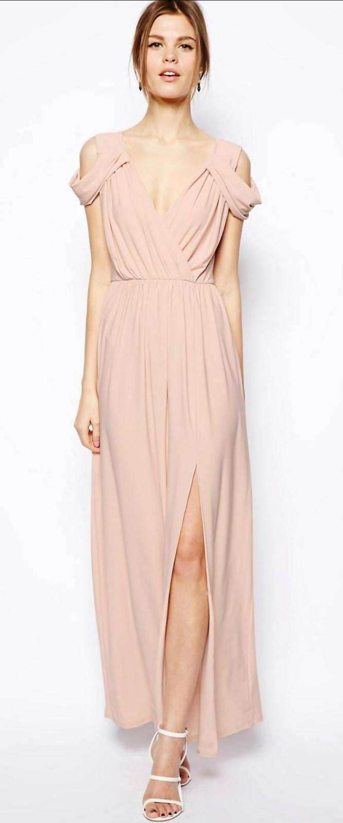 Dlhé spoločenské ružové šaty - Obrázok č. 1