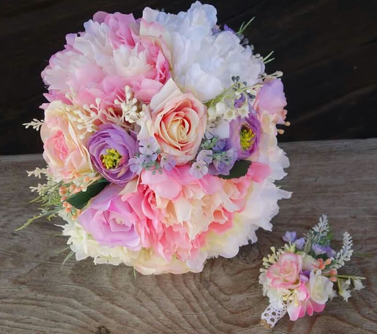 Svadobná kytica, pierko pre ženícha a parta - Obrázok č. 1