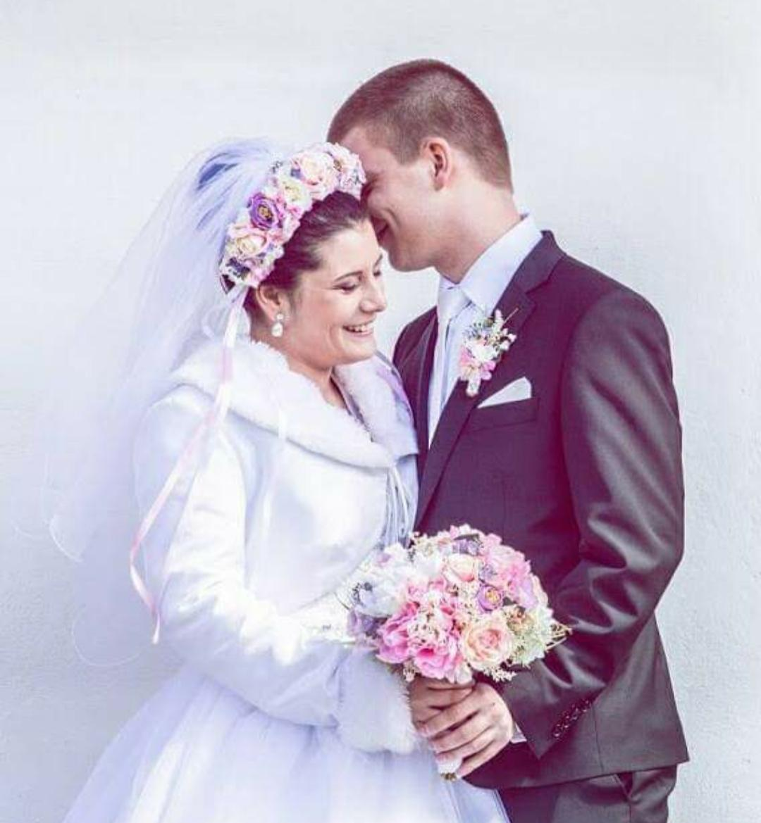 Svadobná kytica, pierko pre ženícha a parta - Obrázok č. 3