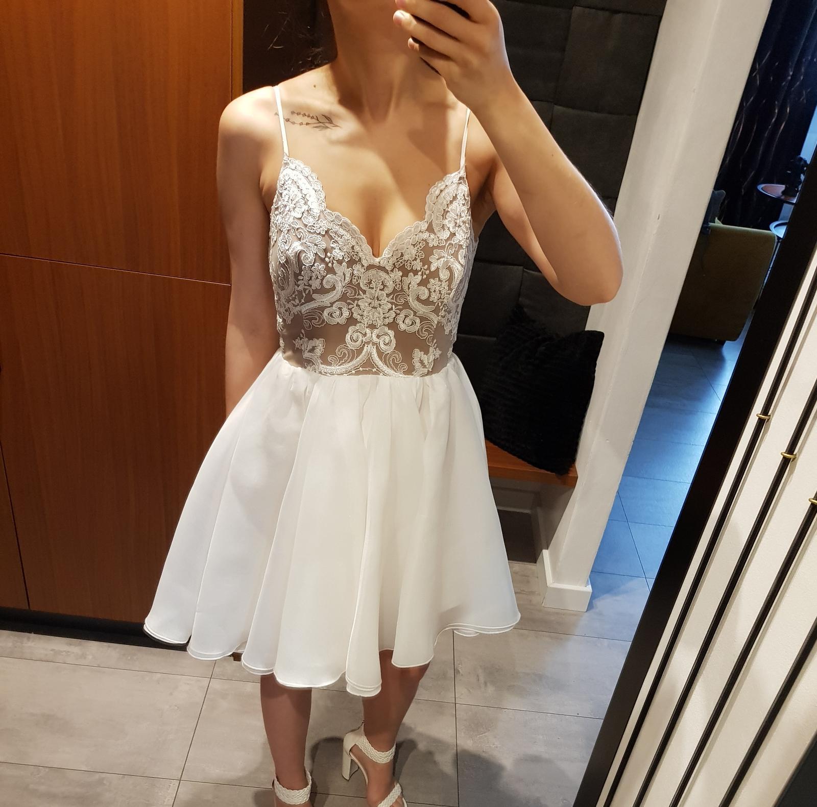 Popolnočné šaty, veľkosť 36 - Obrázok č. 1