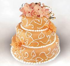 Takový bude dortík, jen s růžičkama.