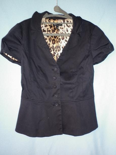 černé sako s krátkým rukávem - Obrázek č. 1