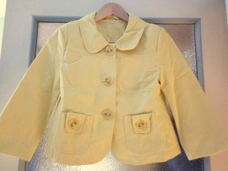 veselý žlutý kabátek sako - Obrázek č. 1