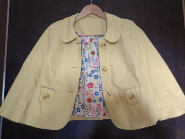 veselý žlutý kabátek sako - Obrázek č. 2