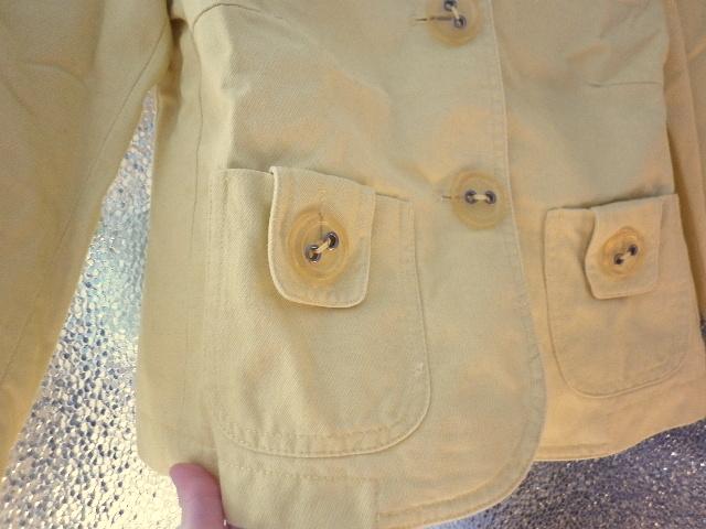 veselý žlutý kabátek sako - Obrázek č. 4