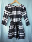 černobílé kostkované šaty, 40