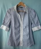 modrobílá pruhovaná košile, 38