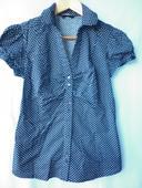 tmavě modrá puntíkatá košile, 38