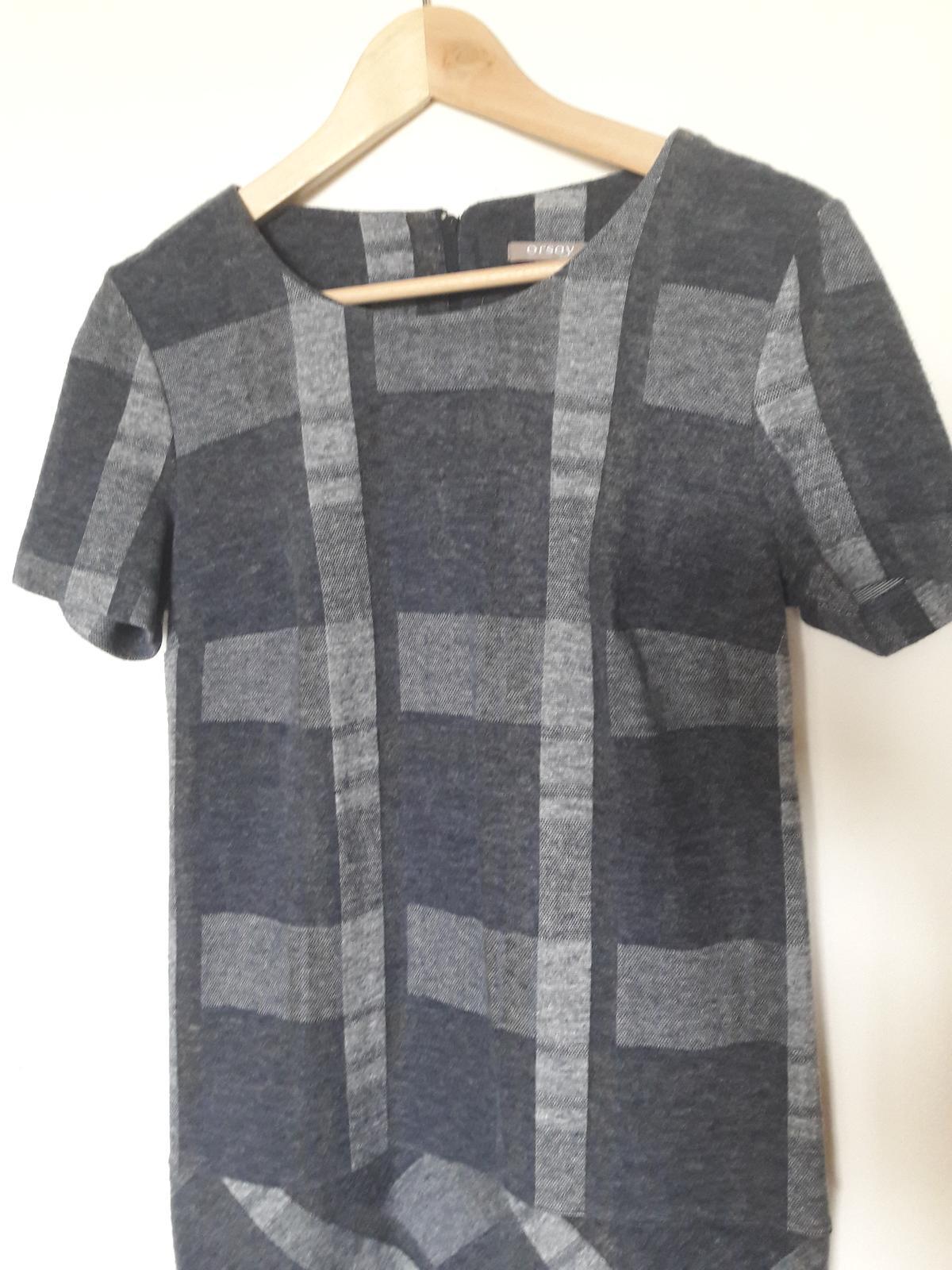 Šedé kárované šaty - Obrázek č. 2