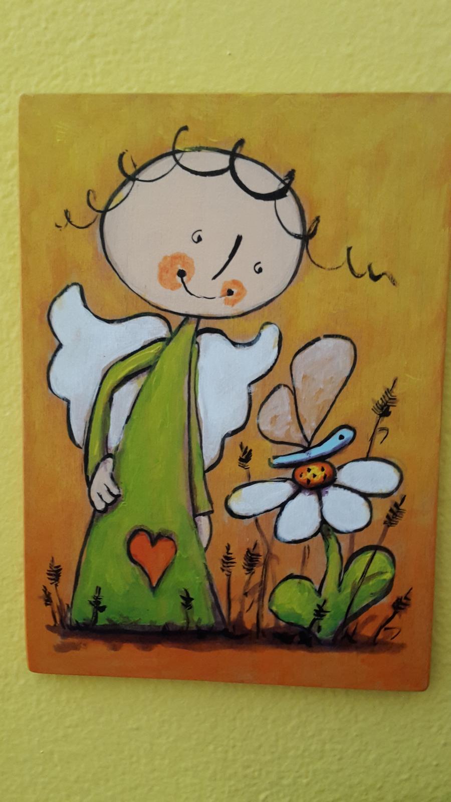 Drevený obrázok do detskej izby - Obrázok č. 1