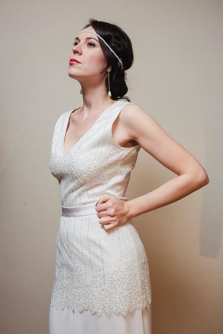 Svadobné šaty v štýle Great Gatsby, veľ. 36-38 - Obrázok č. 1