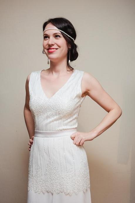 Svadobné šaty v štýle Great Gatsby, veľ. 36-38 - Obrázok č. 2