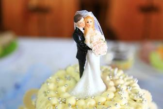 detail našeho svatebního dortu
