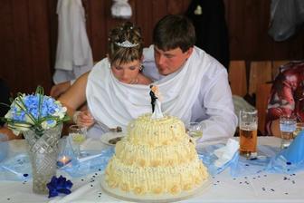 svatební dort - výroba moje babička