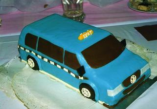 Náš dortík, veliký metr na metr..