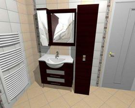Vizualizace naší koupelny.