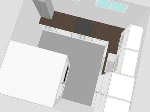 a pohled zvrchu - mezi okny bude komínová digestoř (nějak mi tam nešla vložit)