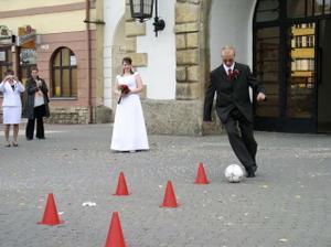 Fotbalista se nezapře...