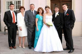 Svedok (brat ženícha), rodičia nevesty, Janka Daňová, MY a svedok (brat nevesty)