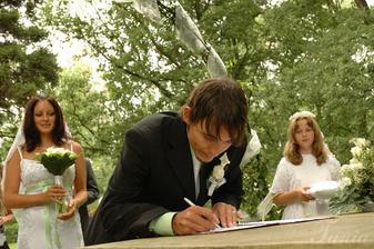 Při podpisu...