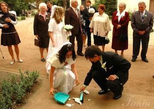 Přivítání před svatební hostinou