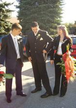 Švagr, můj manžel a manželova sestra - teta Monika