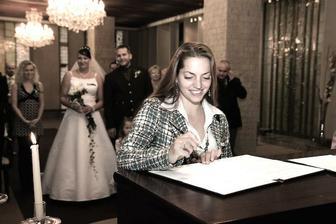 Podpis svědkyně ženicha