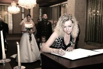Podpis svědkyně nevěsty