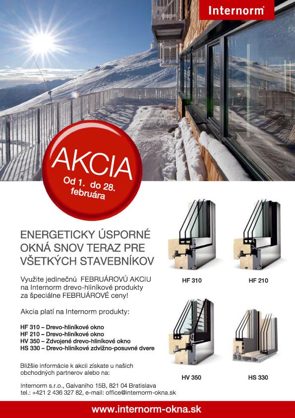Februárová akcia 2015! - Februárová akcia na drevo-hliníkové okná 2015!
