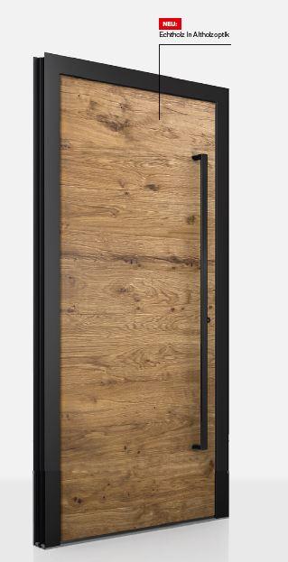 Vchodové dvere vo vzhľade starého dreva - Obrázok č. 1