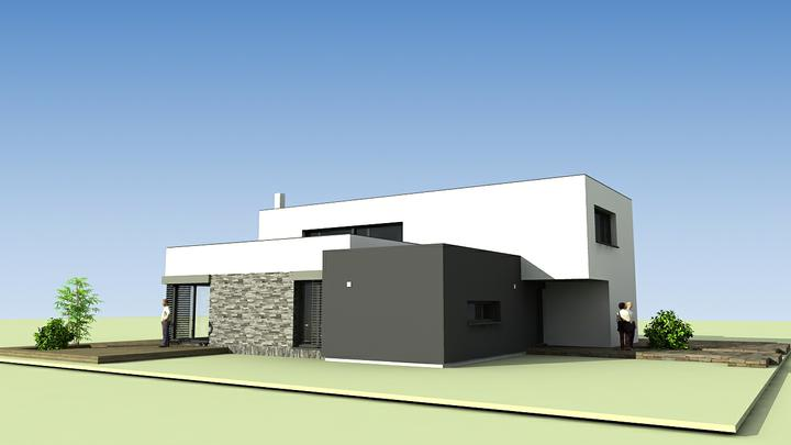 Rodinný dom - košice časť pereš - kuchyňa s nižším stropom, obývacia izba, jedáleň a activities s vyšším stropom