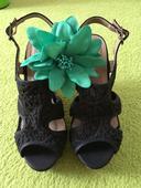 Krajkované topánky na platforme, 35