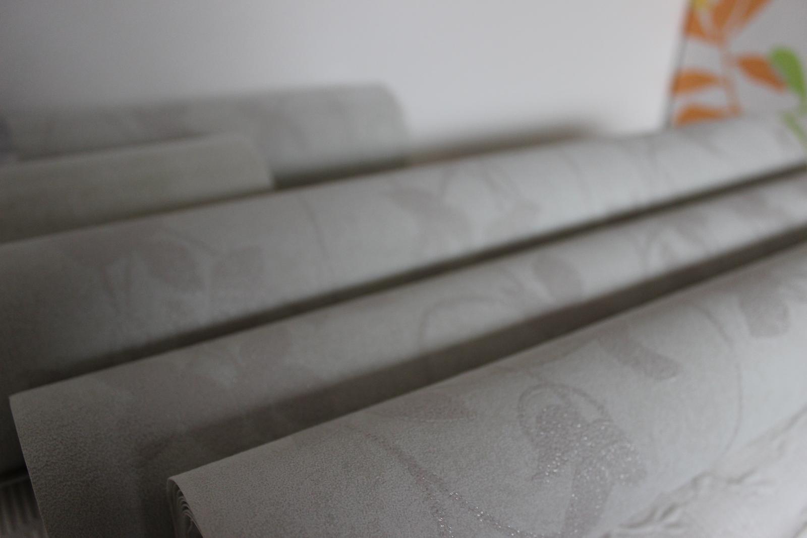 Šedozelenkavá vliesová tapeta, jemný vzor, 14m - Obrázok č. 1
