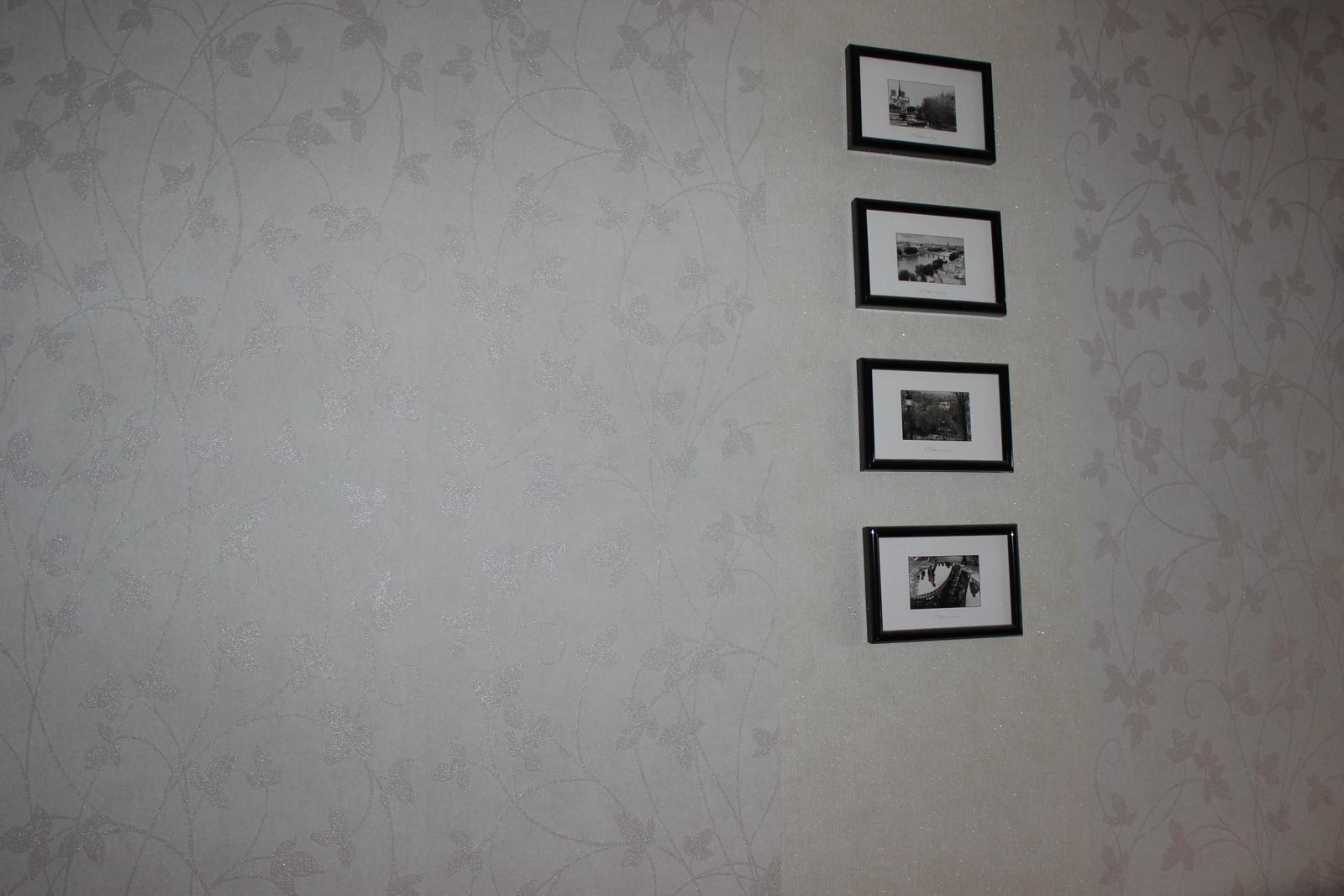 Šedozelenkavá vliesová tapeta, jemný vzor, 14m - Obrázok č. 3