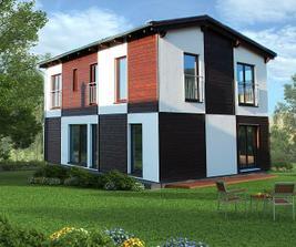 Celkový pohľad na dom KUBIS Individual