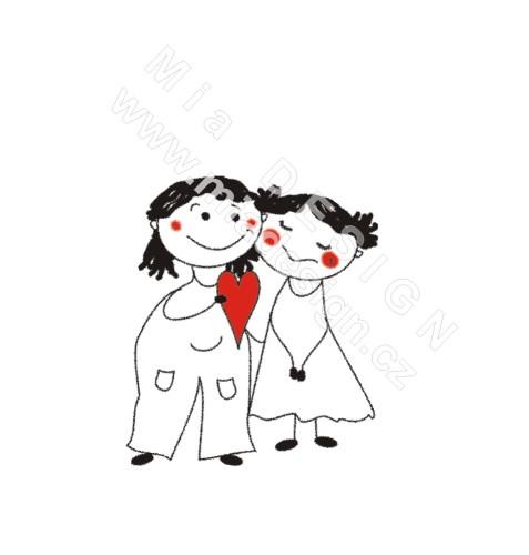 M+R=VL ;o)) - Lehce upravený návrh svatebního oznámení od firmy miadesign, proveden toutéž firmou ;o)