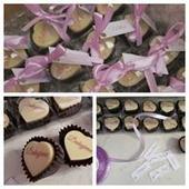 čokoládové pralinky,