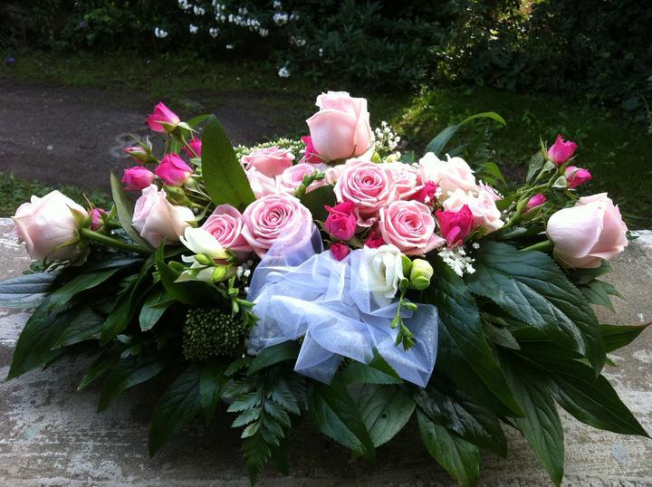 24.8.2013 -romantická světle růžová - dekorace před novomanžele..