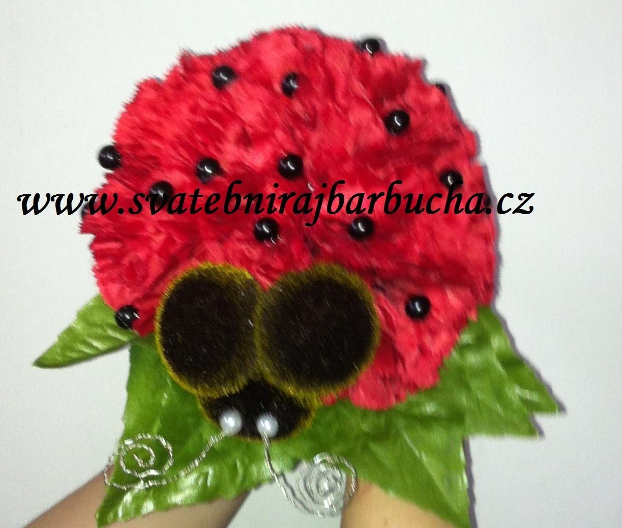 Netradiční svatební kytice - pěnové růžičky + polštářky pod prstýnky, košíčky - Obrázek č. 59