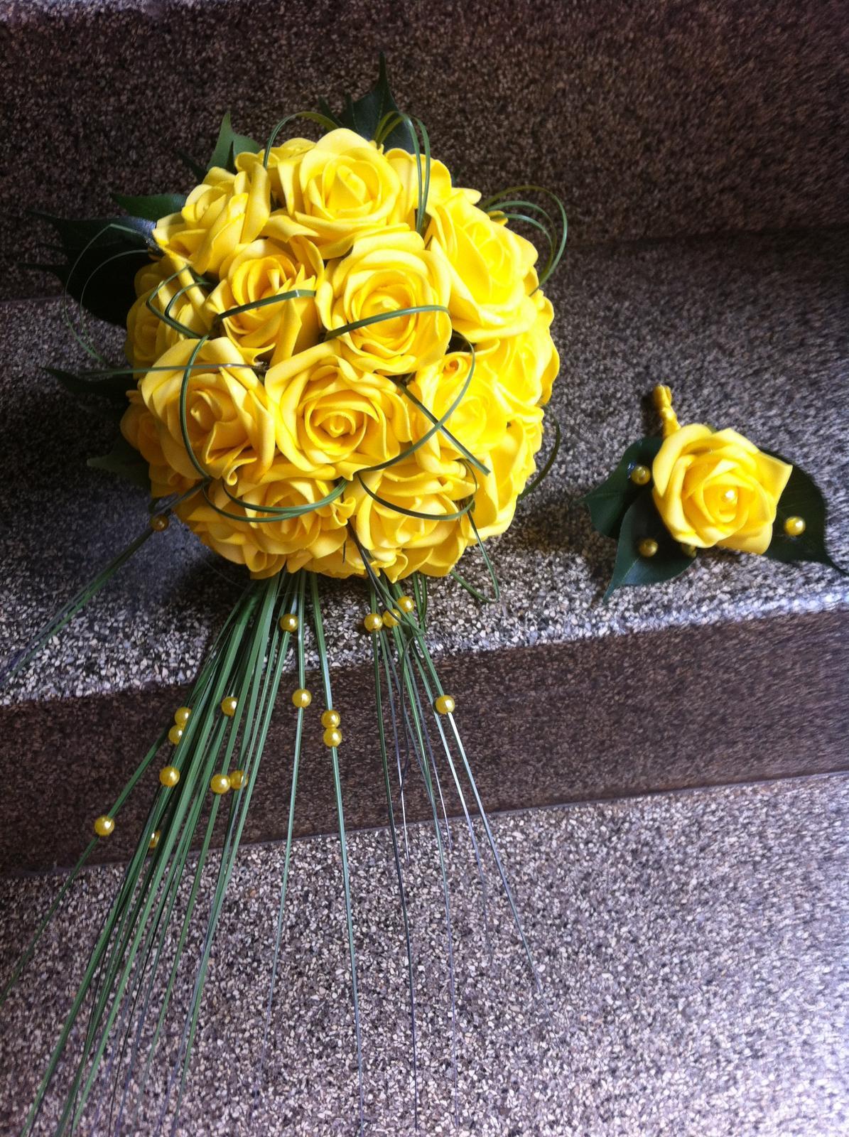 Netradiční svatební kytice - pěnové růžičky + polštářky pod prstýnky, košíčky - Obrázek č. 72