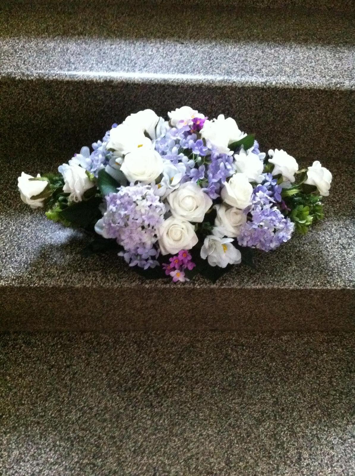 Netradiční svatební kytice - pěnové růžičky + polštářky pod prstýnky, košíčky - Obrázek č. 78